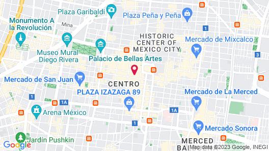 NH Collection Mexico City Centro Histórico Map