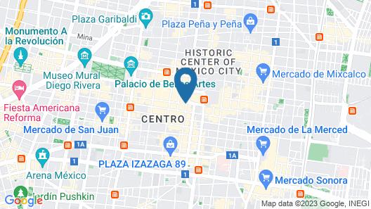 Gran Hotel Ciudad De Mexico Map