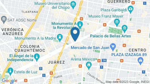 Sevilla Palace Hotel Map
