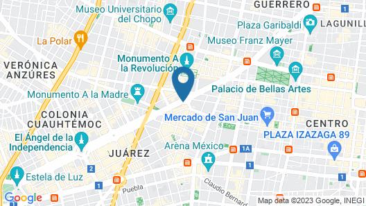 Fiesta Americana - Reforma Map