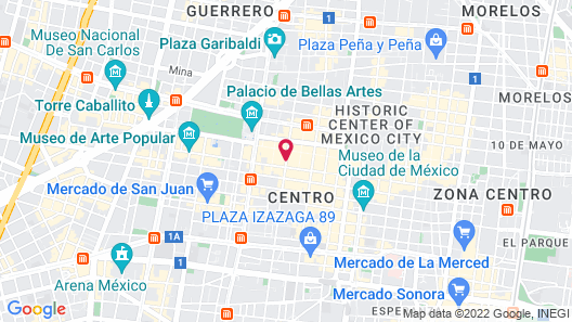 Histórico Central Mexico City Map