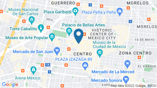 Histórico Central Mexico City Map