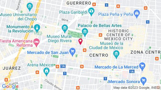 Hotel Marlowe Centro Histórico Map