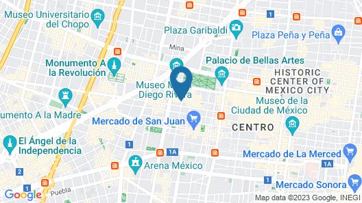 City Express Ciudad de Mexico Alameda Map