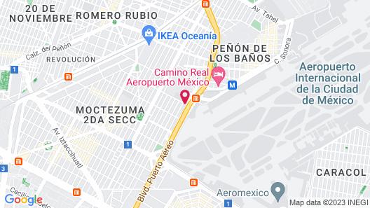 We Hotel Aeropuerto Map