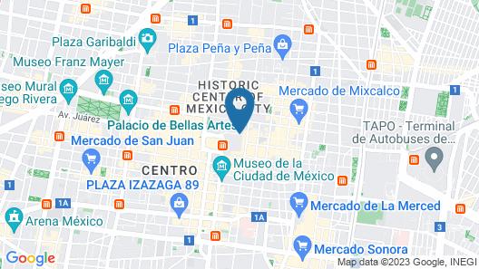 Hotel Amigo Zocalo Map