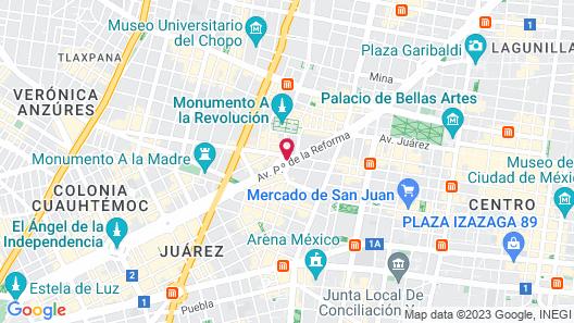 Le Meridien Mexico City Map