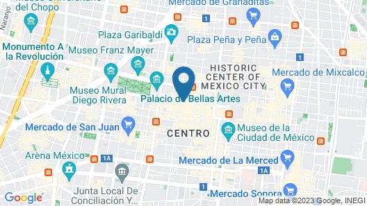 Hotel Ritz Mexico City Map