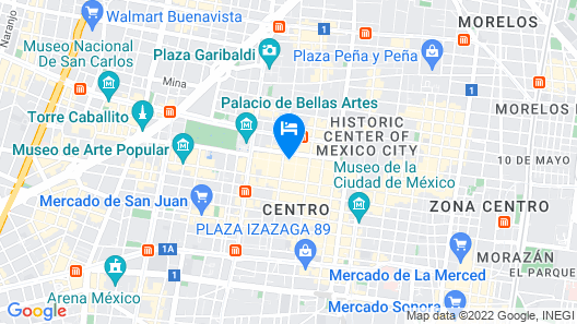 Hotel Ritz Ciudad de México Map