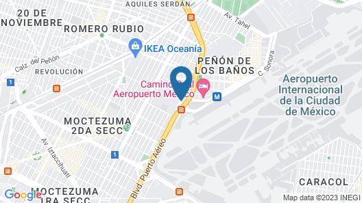 Fiesta Inn Aeropuerto Ciudad de Mexico Map