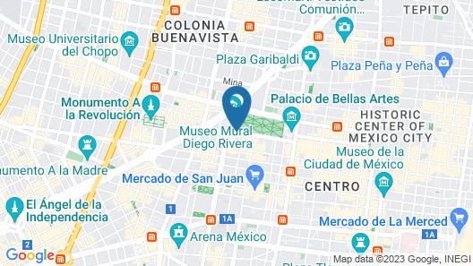 Hilton Mexico City Reforma Map