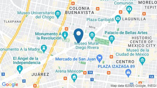 Barceló México Reforma Map