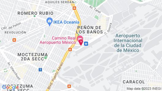 Camino Real Aeropuerto Mexico Map