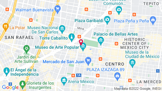 Fiesta Inn Centro Historico Map