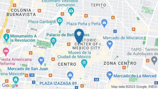 Mexico City Hostel Map