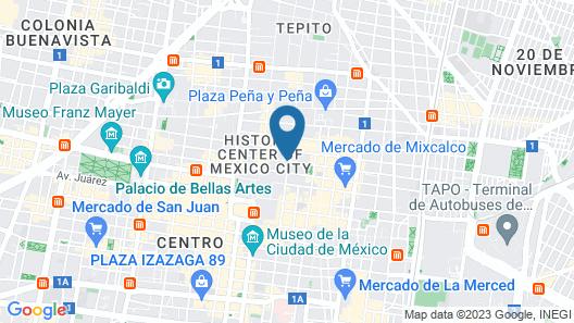 Hotel Templo Mayor Map