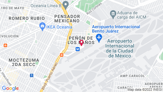 Courtyard Mexico City Airport Map
