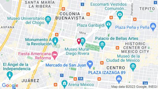 Hotel Fontan Reforma Mexico Map