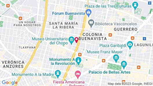 Holiday Inn Mexico Buenavista Map