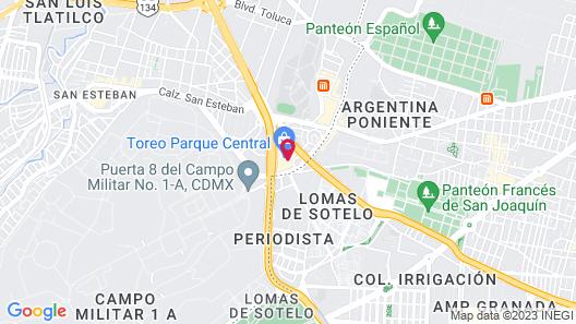 Fiesta Americana México Toreo Map