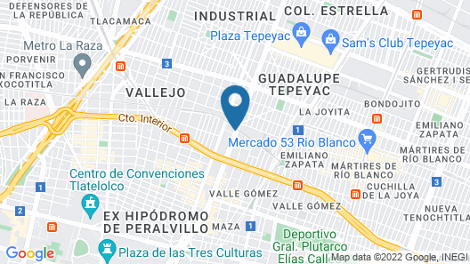 City Express CDMX La Villa Map