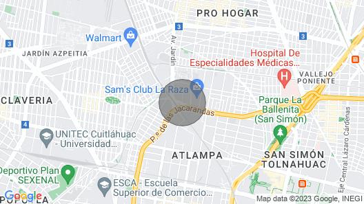 Castlerock Suites AND Condos IN Mexico City Map