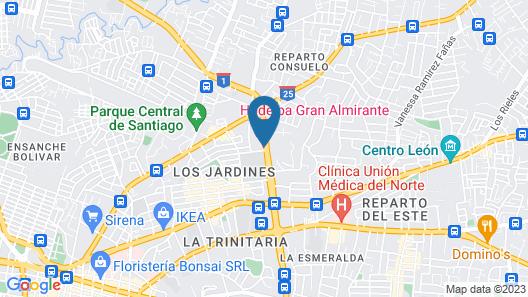 Hodelpa Gran Almirante Hotel & Casino Map