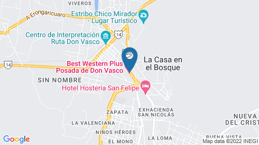 Best Western Plus Posada de Don Vasco Map