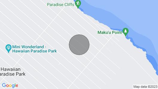 Hawaiian Luxury Vacation Studio With Free Washer/dryer--car Rental Optional Map