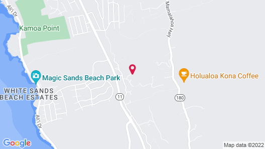 Kona Hawaii Guesthouse Map