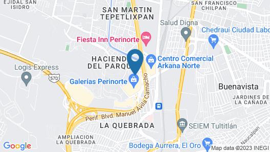 ibis Mexico Perinorte Map