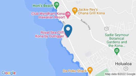 Royal Sea Cliff Kona by Outrigger Map