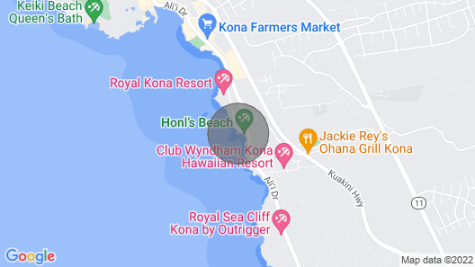 Quite Simply THE BEST Kona Reef Oceanfront. Map