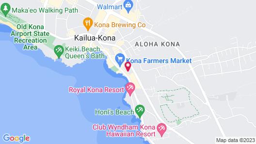 Kona Islander Inn Map
