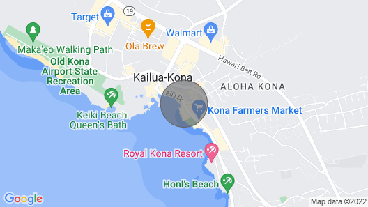 Direct Ocean View in the Heart of Kailua-kona/ At Startline for Ironman! Map
