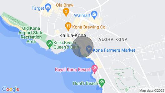 Downtown Kailua-kona Condo W/ac Walk to Beach/bars Map