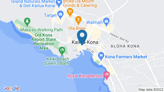 Courtyard by Marriott King Kamehameha's Kona Beach Hotel Map