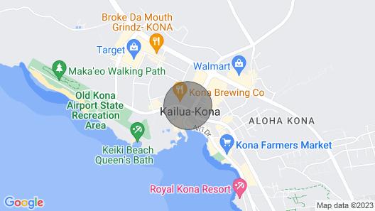Tropical Oceanfront Condo w/AC & Shared Pool in Downtown Kona: Kona Alii 201 Map