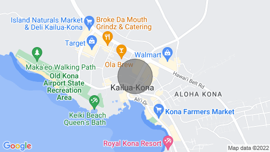 2 bedroom fully furnished and all included in downtown Kona with swimming pool Map