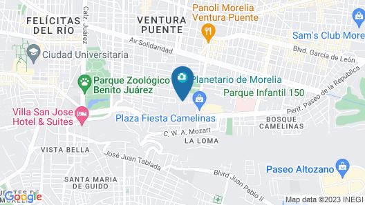 Best Western Plus Gran Hotel Morelia Map