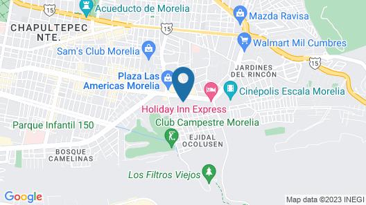 Holiday Inn Morelia Map