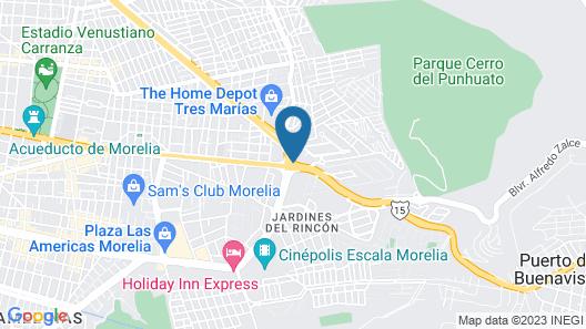 Turotel Morelia Map