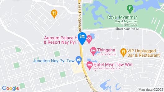 Aureum Palace Hotel & Resort Nay Pyi Taw Map