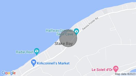 Razorbrac Seaesta - Private Beachfront Home Map