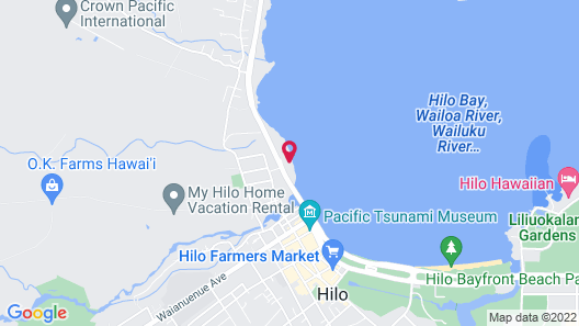 Hilo Bay Oceanfront Bed and Breakfast Map