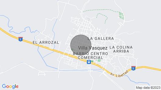 2bed/2bath house near Playa Buen Hombre/El Morro Map