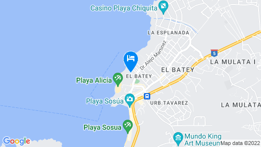 Casa Marina Beach and Reef Map