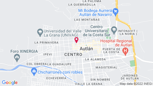 Hotel Casa Mexicana Autlan Map