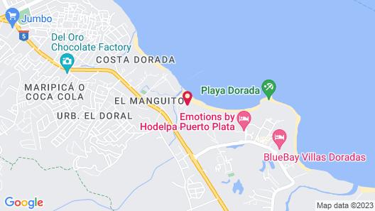 Apartamento el Pueblito Playa Dorada Map