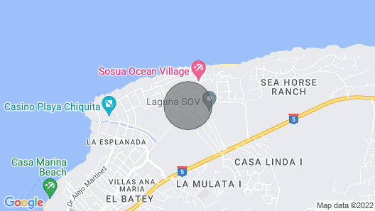 Oceanfront 2 BDR villa. Privacy and safety. Guest friendly. All resort amenities Map